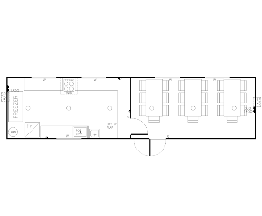 AMS Kitchen and Diner (K-003) Floorplan