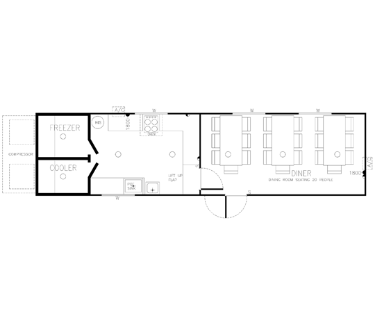 AMS Kitchen and Diner (K-004) Floorplan