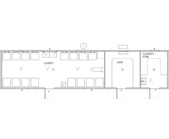 AMS Laundry, Linen & Cleaner (LLC-007) Floorplan